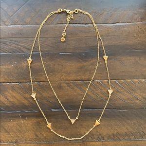 Chloe + Isabel Pavé Triangle Convert. Necklace
